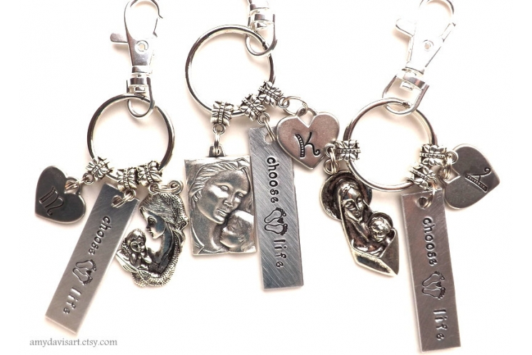 Choose Life Keychain