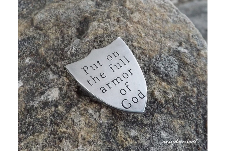 Armor of God pocket piece for men