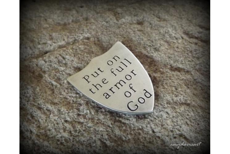 Christian gift for men Ephesians 6 pocket token