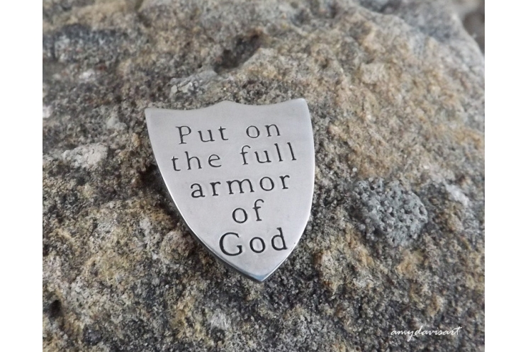 Ephesians 6 shield of faith pocket coin