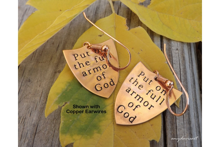 Ephesians 6 shield of faith earrings