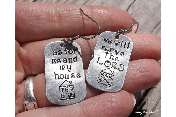 As for me and my house we will serve the Lord Christian earrings