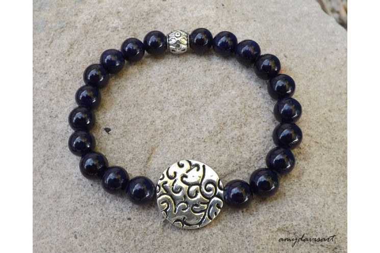 purple stacking bracelet