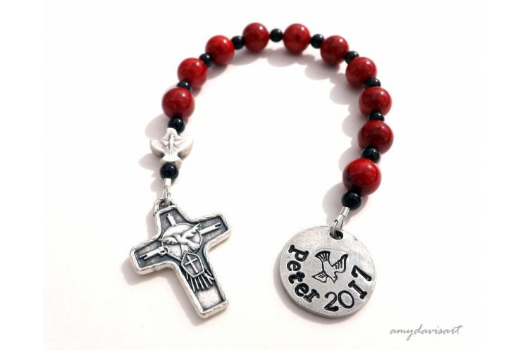 Personalized confirmation rosary