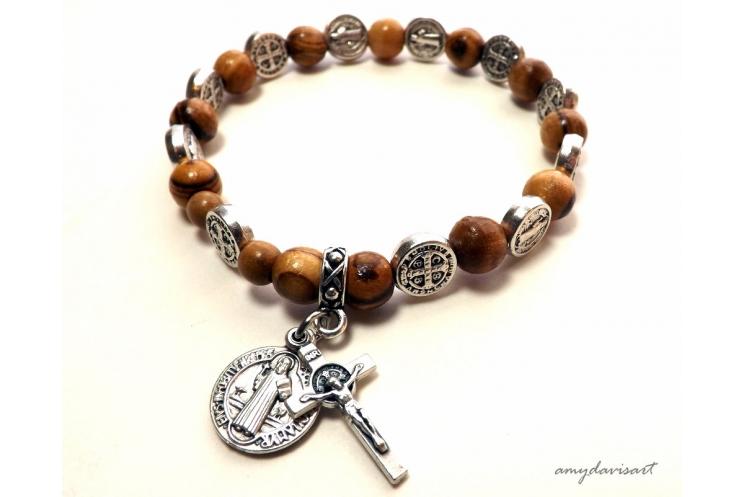 Olive Wood Rosary Bracelet