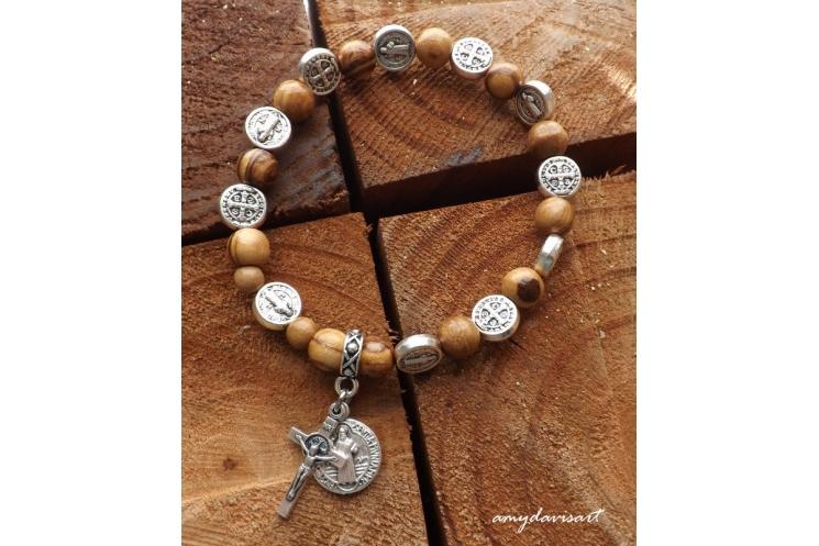 Catholic Jewelry One Decade Rosary Bracelet