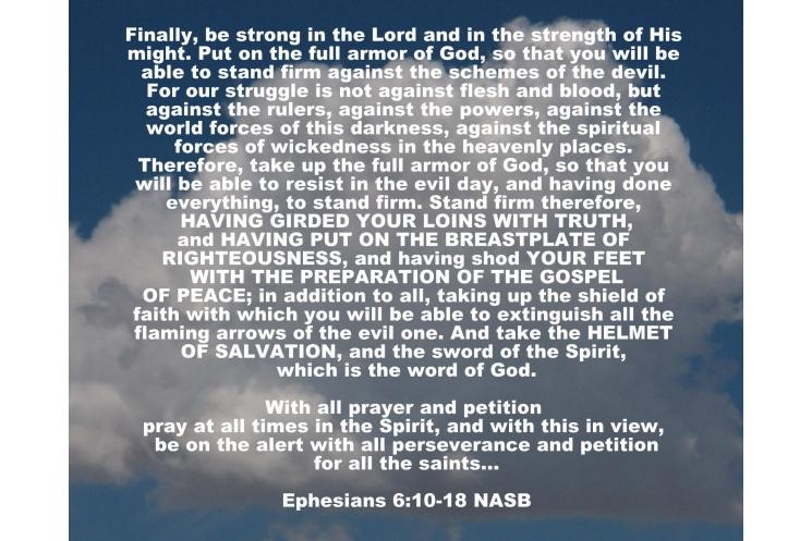 Ephesians 6:10-18