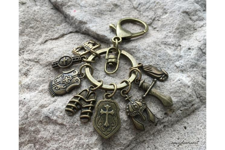 Armor of God Christian Keychain and Purse Charm
