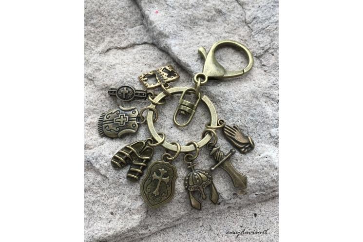 Ephesians 6 Bible Verse Keychain and Purse Charm