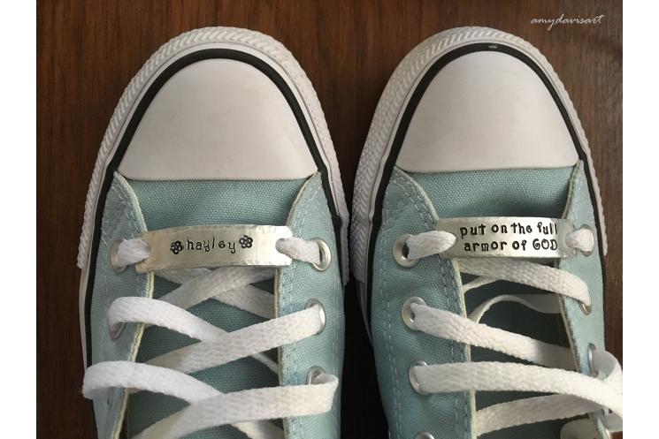 Full Armor of God Custom Shoelace Tags