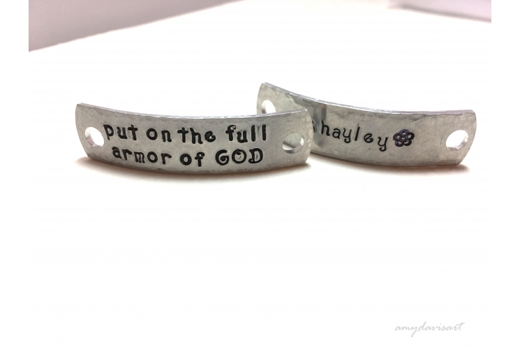 Armor of God Shoelace tags gift for Christian Athlete