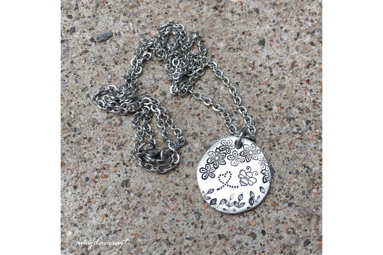 Bee pendant necklace for her