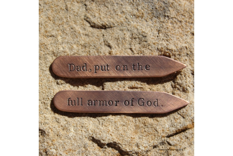Collar stays with Bible verse