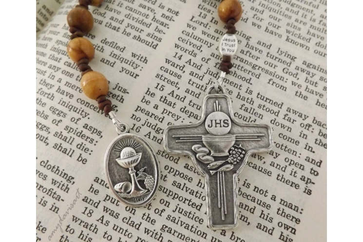 Jesus I trust in you Divine Mercy bead