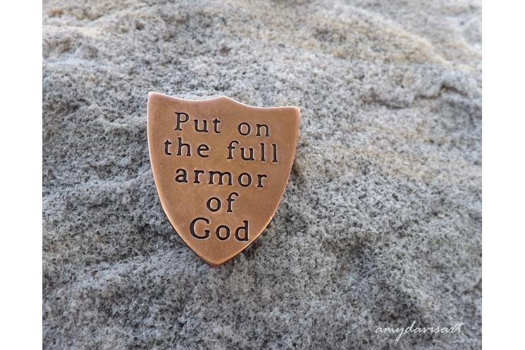 Ephesians 6 Armor of God pocket piece gift for men