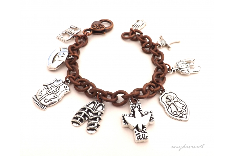 Christian charm bracelet Ephesians 6 full armor of God