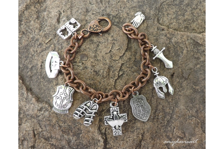Full armor of God charm bracelet