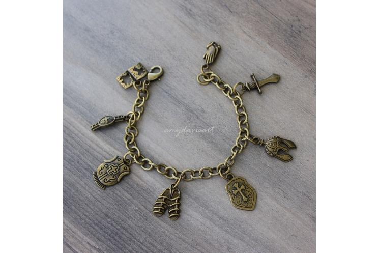 Full Armor of God Charm Bracelet (bronze)