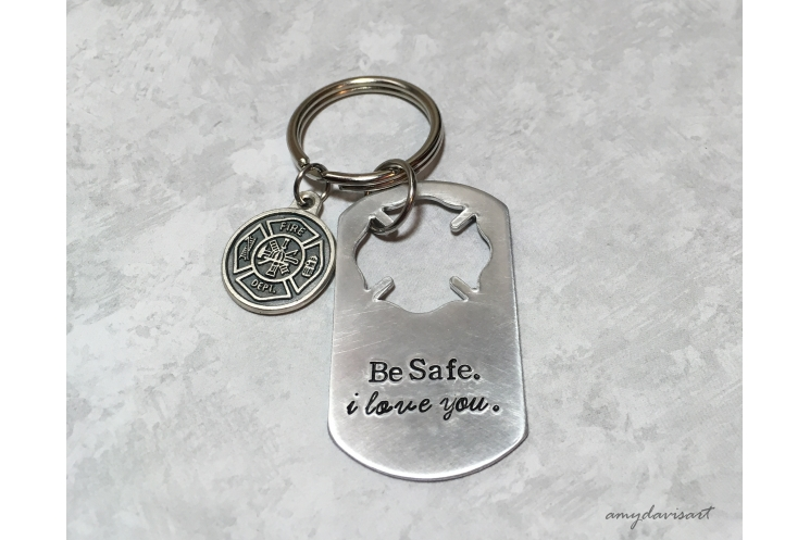 Gift for firefighter spouse Isaiah 43:2