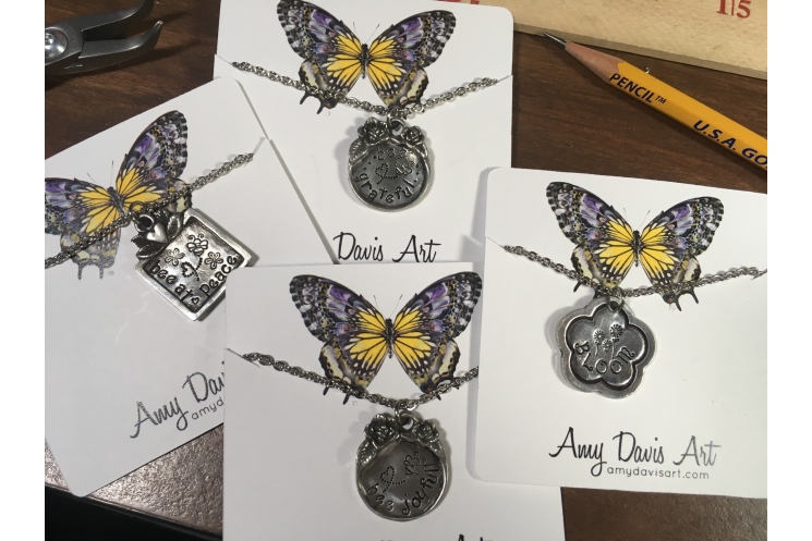 Some other bee and flower necklaces I have made