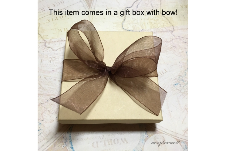 Complimentary gift box with bow
