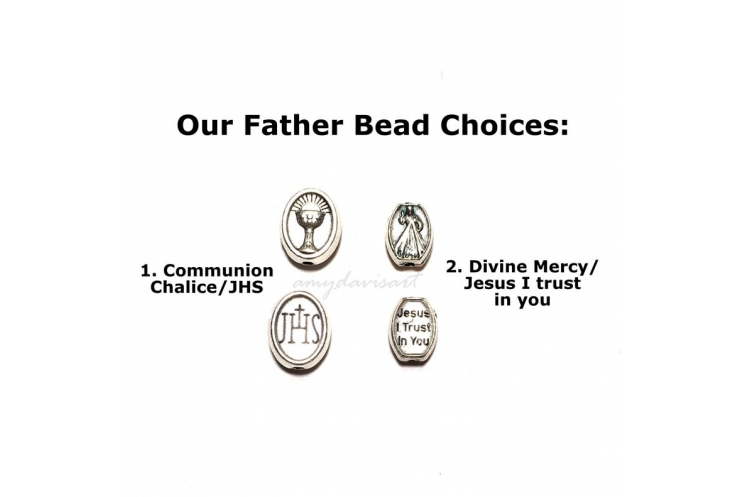 Our Father Bead Choices - Communion Chalice, Divine Mercy