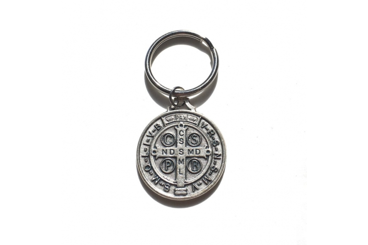 St Benedict Keychain (back)
