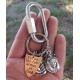Full Armor of God Christian Keychain with charms and shield of faith