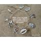 Full Armor of God Bracelet with Initial Charm