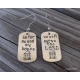 Silver dog tag hand stamped earrings