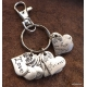 Christian Keychain with heart shaped charms (Galatians 5)