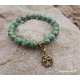 Turquoise green Christian bracelet with cross charm