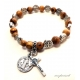 St Benedict Wrist Rosary with Olive Wood Beads