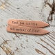 Personalized copper collar stays for him
