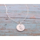 hand stamped state necklace u.s.a. jewelry