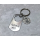 Isaiah 43:2 Christian keychain for firefighters