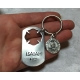 Handstamped keychain for firefighters