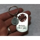 Firefighter gift - handstamped keychain with St Florian Medal