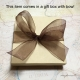 This item comes in a complimentary gift box with bow!