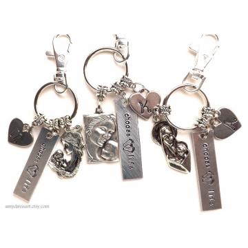 Choose Life Keychain, Adoption Key Chain, Pro Life