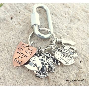 Armor Of God Christian Keychain Ephesians 6 Shield of Faith