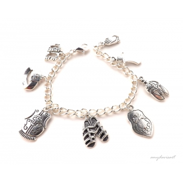 Full Armor Of God Charm Bracelet with Letter Charm Option (Christian Jewelry)