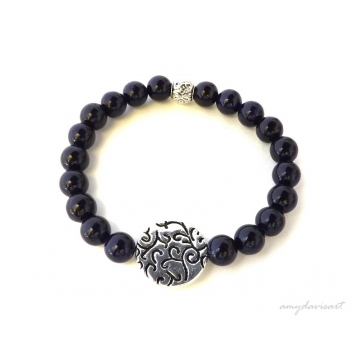 Women's Purple Stacking Bracelet (Purple Jewelry)