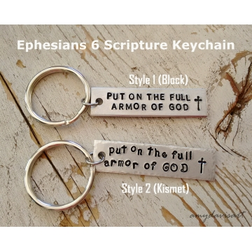 Put on the Full Armor Of God Keychain (Christian Gift)