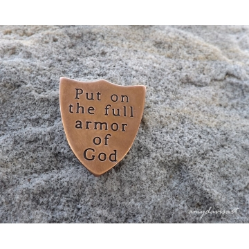 Ephesians 6 Put on the Full Armor Of God Pocket Piece (Copper)