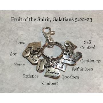 Fruit of the Spirit Keychain (Galatians 5 Christian Keychain)