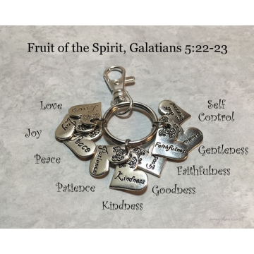 Fruit of the Spirit Keychain (Galatians 5 Christian Keychain)