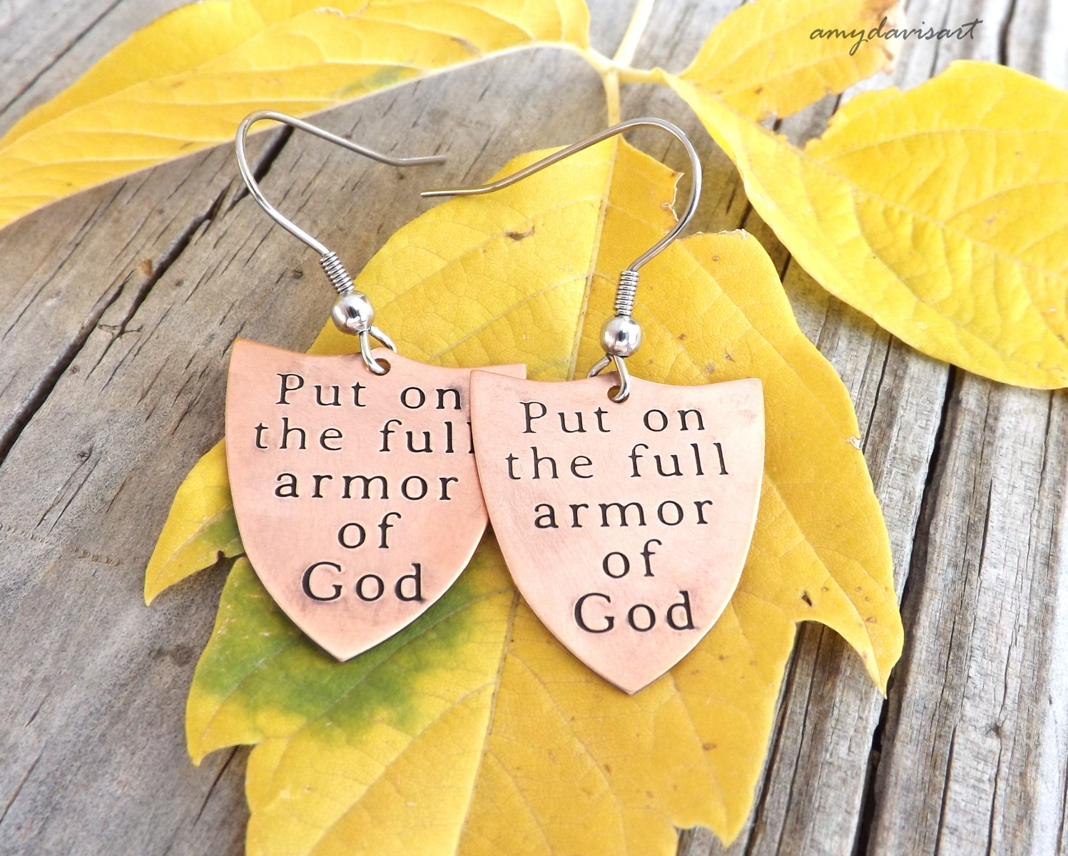 Christian jewelry Full Armor of God Earrings, Ephesians 6 Jewelry